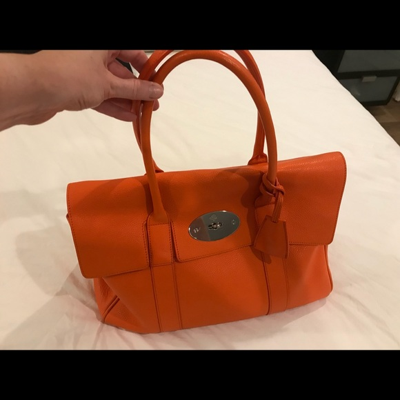 Mulberry Bags   Bright Orange Bayswater Bag   Poshmark 53ecab0516